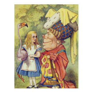 Alice with the Duchess Postcard