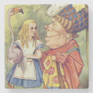 Alice with the Duchess Stone Beverage Coaster