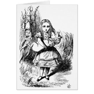 Alice with the Pig Stationery Note Card