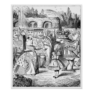 Alice with the Red Queen Print