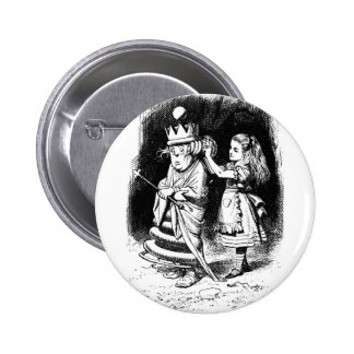 Alice with the White Queen Button