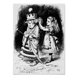 Alice with the White Queen Print