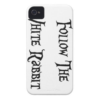 Alice Wonderland Follow the White Rabbit Case-Mate iPhone 4 Case