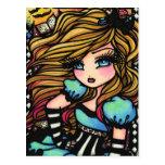 Alice Wonderland Hearts Fairy Fantasy Art Girl Postcard