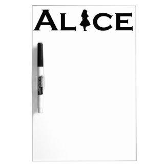Alice Word Play Black Dry Erase Board
