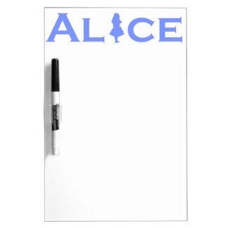Alice Word Play in Periwinkle Dry Erase Board