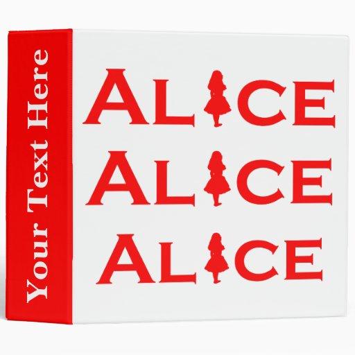 Alice Word Play in Red Vinyl Binders