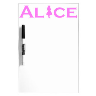 Alice Word Play Pink Dry Erase Board