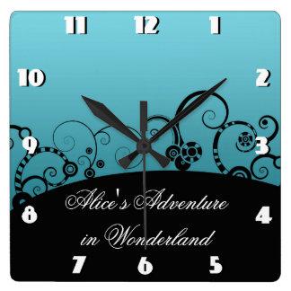 Alice's Adventure Square Wall Clock