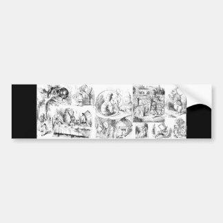Alice's Adventures in Wonderland Car Bumper Sticker