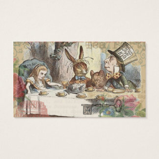 Alice's Adventures in Wonderland Mad Tea Party Business Card