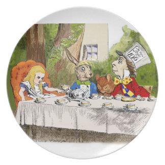 Alice's Adventures in Wonderland Melamine Plate