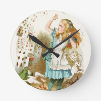 Alice's Adventures in Wonderland Round Clock