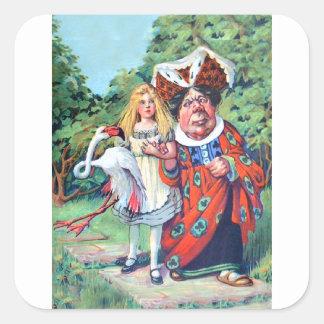 Alice's Adventures in Wonderland Square Sticker