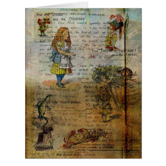 Alice's Adventures Large Greeting Card