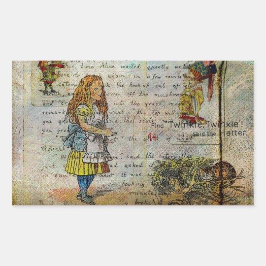 Alice's Adventures Rectangular Sticker