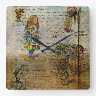 Alice's Adventures Square Wallclocks