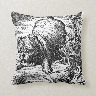 Alice's Adventures with Giant Dog Throw Pillow