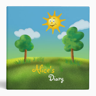 Alice's Diary - Sunny Day 3 Ring Binder