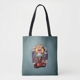 Alice's heart tote bag