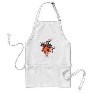 Alice's of the country of wonder rabbit adult apron