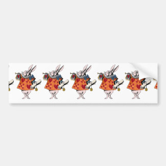 Alice's of the country of wonder rabbit bumper sticker