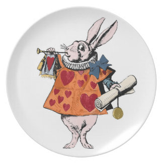 Alice's of the country of wonder rabbit dinner plate