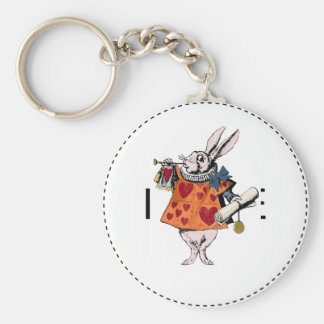 Alice's of the country of wonder rabbit keychain