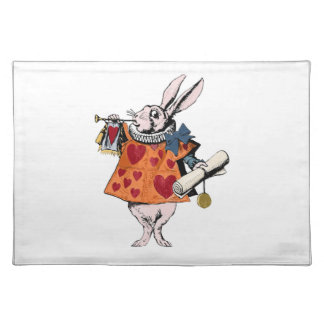 Alice's of the country of wonder rabbit placemat