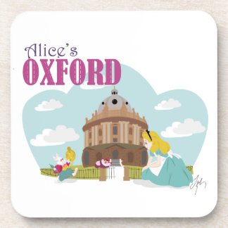 Alice's Oxford Hard Plastic coasters - set of six