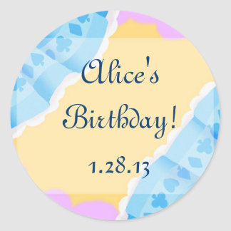 Alice's party classic round sticker