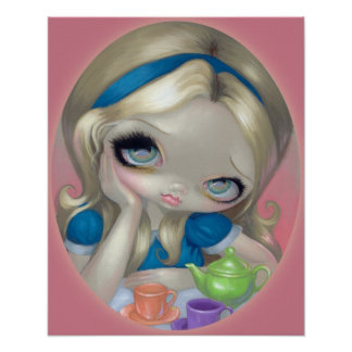 Alice's Tea Party ART PRINT Alice in Wonderland