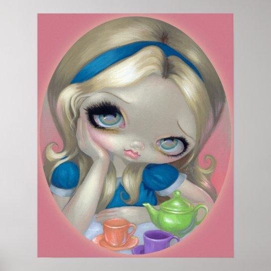 Alice S Tea Party Art Print Alice In Wonderland Zazzle Com