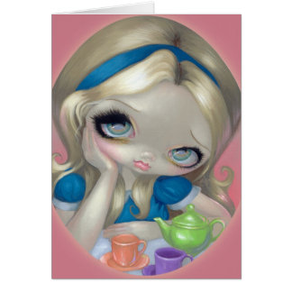 """""""Alice's Tea Party"""" Greeting Card"""