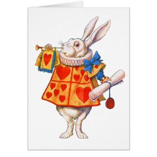 ALICE'S WHITE RABBIT CARD