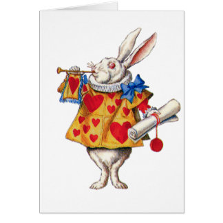 ALICE'S WHITE RABBIT IN WONDERLAND CARD