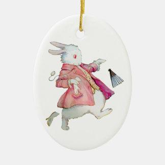 Alice's White Rabbit in Wonderland Christmas Tree Ornament