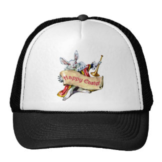 Alice's White Rabbit wishes you a Happy Easter Trucker Hat