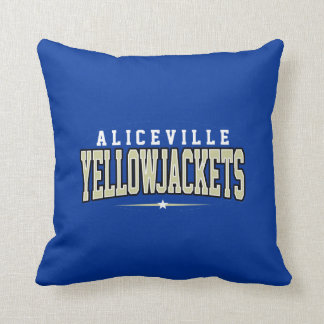 Aliceville High School; Yellowjackets Throw Pillow