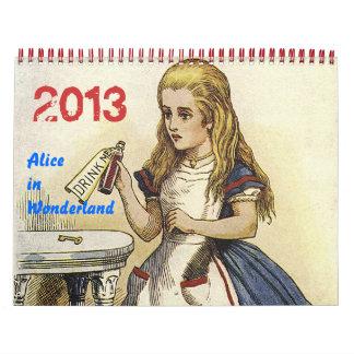 Alicia 2013 en calendario del país de las