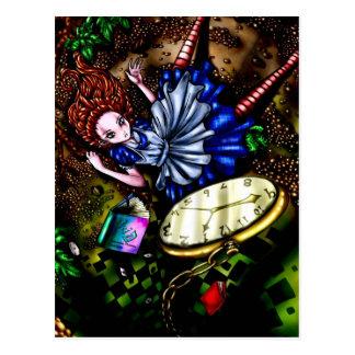 Alicia abajo de la madriguera de conejo tarjetas postales