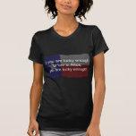 Alicia afortunada - fondo oscuro camiseta