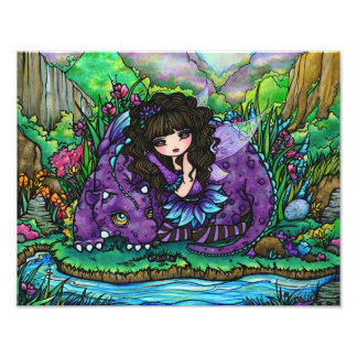 Alicia & Aliana Fairy & Dragon Photo Print