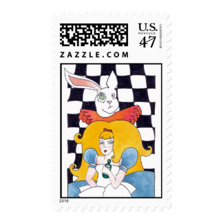 ALICIA AND THE WHITE RABBIT POSTAGE