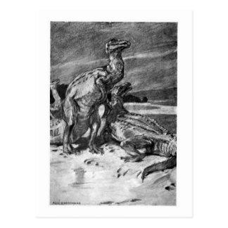 Alicia B. Woodward: Postal del arte de Iguanodonts