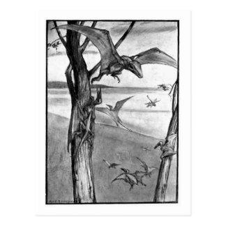Alicia B. Woodward: Postal del arte de los lagarto