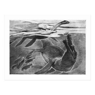 Alicia B. Woodward: Postal del arte de Plesiosauri