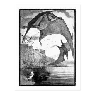 Alicia B. Woodward: Postal del arte de Pteranodon