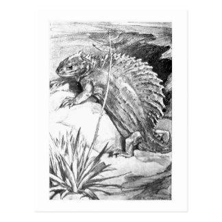 Alicia B. Woodward: Postal del arte del Edaphosaur