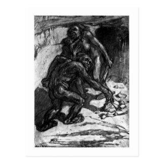 Alicia B. Woodward: Postal del arte del mousterien